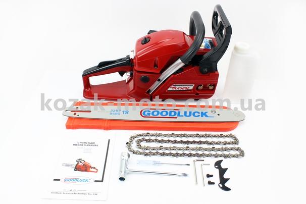 (GoodLuck)  Бензопила GoodLuck GL4500Е 45cc (2кВт. шина 18