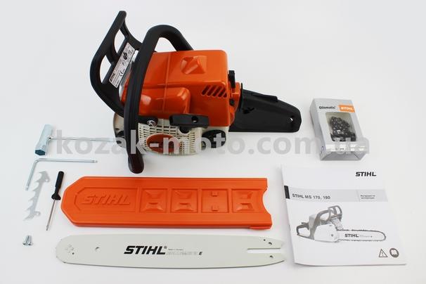 (STIHL)  Бензопила MS180 32cc (1,5кВт. шина 14