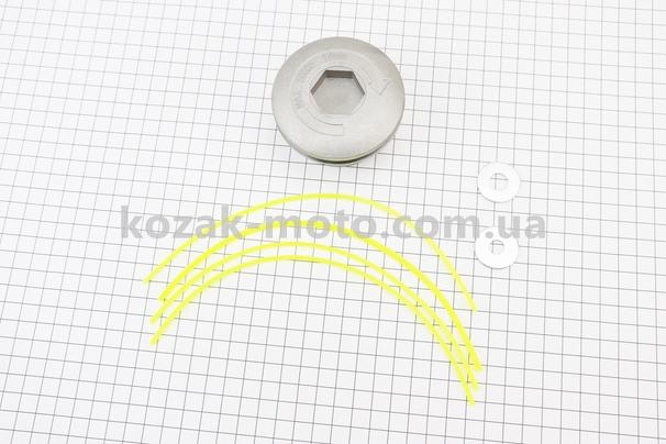 (Китай)  Леска в сборе (шпулька), ПАУК алюминиевая (леска вставляется) Тип №2