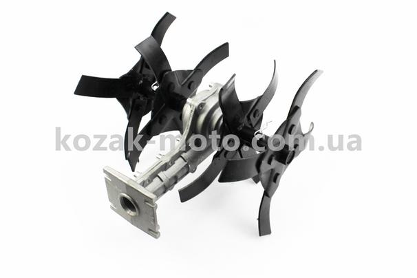 (Китай)  Культиватор (фреза-нож), 9шлицов, под трубу ?26мм, ширина захвата 280мм