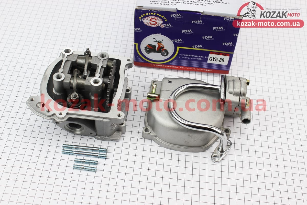 (S)  Головка цилиндра+клапана+пастель+распредвал+кр. клапанов+патрубок сапуна 47мм-80cc
