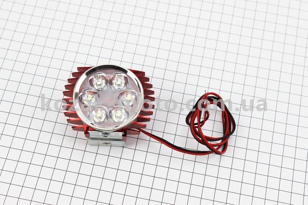 (Китай)  Фара дополнительная светодиодная - 6 LED с креплением,