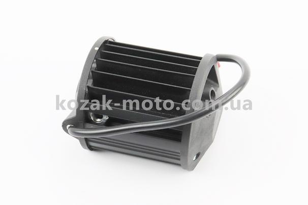 (Китай)  Фара дополнительная светодиодная влагозащитная - 10+9 LED с креплением, прямоугольная 76*99мм, SUPER LIGHT