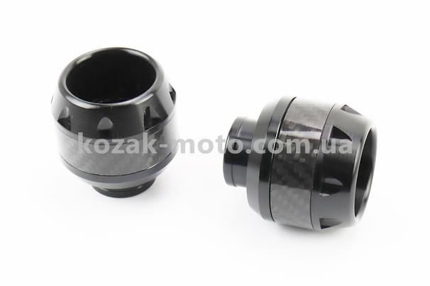 (Китай)  Крашпеди-слайдери (відбійники) універсальні, КАРБОН к-кт 2шт