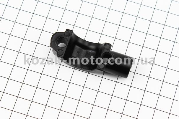 (Китай)  Кронштейн кріплення циліндра гальмівного D22мм, або важеля гальмівного до керма з отвором під дзеркало, М10