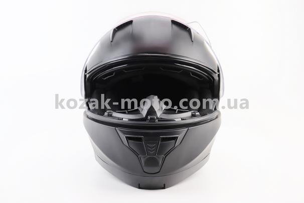 (BLD)  Шлем закрытый с откидным подбородком+очки BLD-162 S- ЧЕРНЫЙ матовый