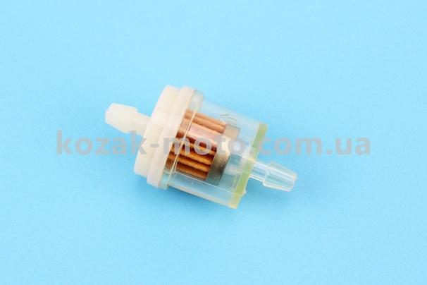 (Китай)  Фильтр топливный прозрачный без магнита большой (элемент - бумага)