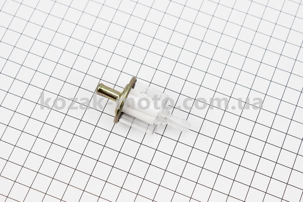 (Китай)  Фильтр топливный прозрачный металл/пластик (полипропилен)