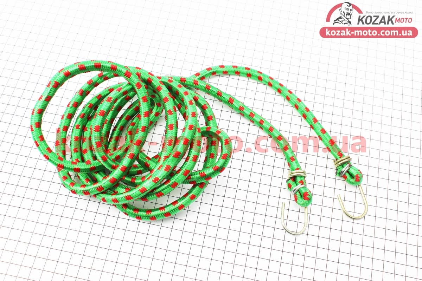 (Китай)  РЕЗИНКА БАГАЖНИКА круглая с крючками метал. 3,0метр