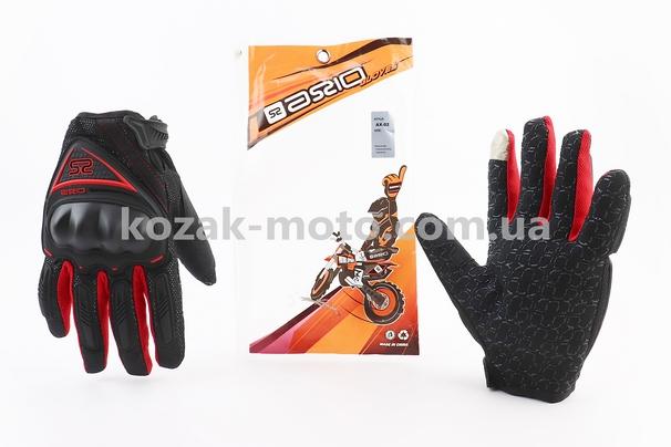 (AXIO)  Перчатки мотоциклетные L-черно/красные (сенсорный палец)