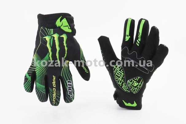 (THOR)  Перчатки мотоциклетные L-Зелёные, тип 4