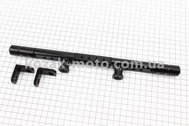 (Китай)  Перемичка керма регульована по довжині з отворами під мото аксесуари 345-360мм, ЧОРНИЙ тип 1