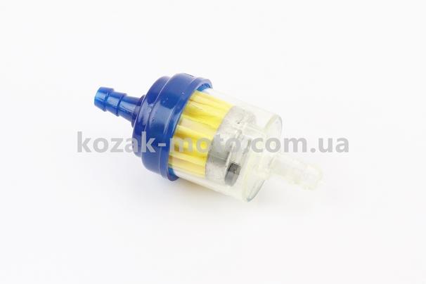 (Китай)  Фильтр топливный прозрачный с магнитом малый, цветной