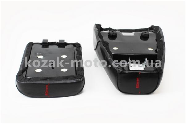 (Китай)  Сиденье переднее + сиденье заднее узкое, 200мм на металлической основе к-кт 2шт