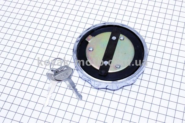 (Китай)  Крышка топливного бака с замком (хром)