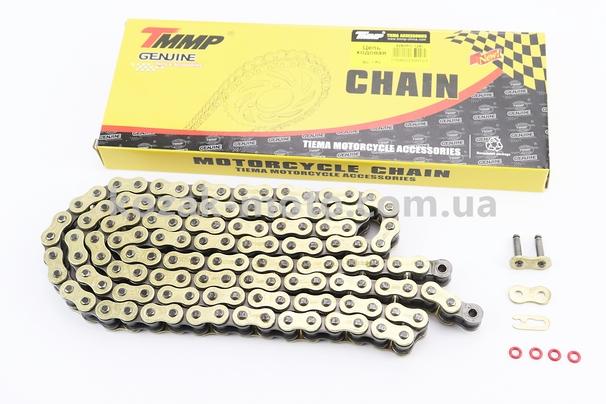(TMMP)  Цепь привода колеса 428Н*128L VX GOLD (с сальниками)