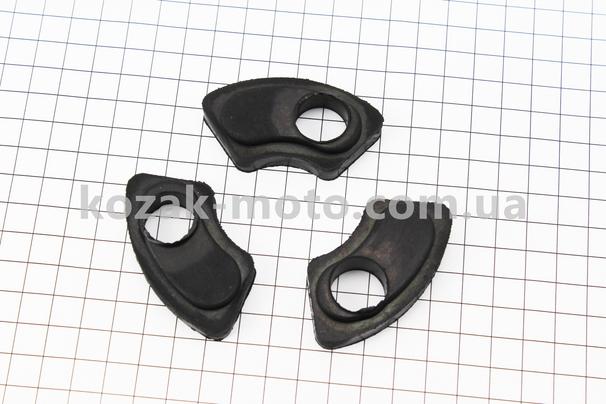 (Китай)  Демпферная резинка заднего колеса к-кт 3шт Карпаты (нового образца)