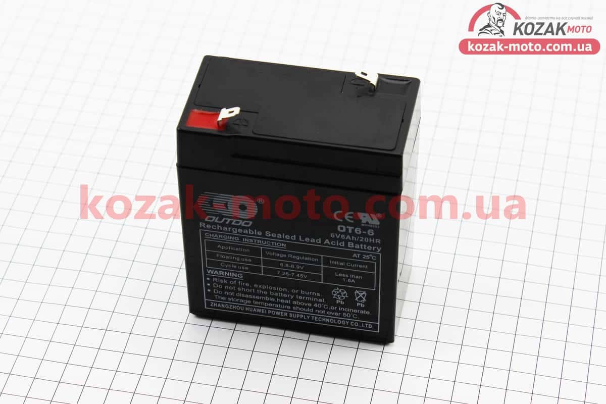(OUTDO)  Аккумулятор OT6-6 - 6V6Ah (L85*W48*H100mm) для ИБП, игрушек и др., 2021