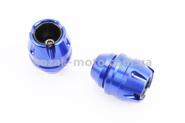 (Китай)  Крашпеди-слайдери (відбійники) універсальні, СИНІЙ к-кт 2шт