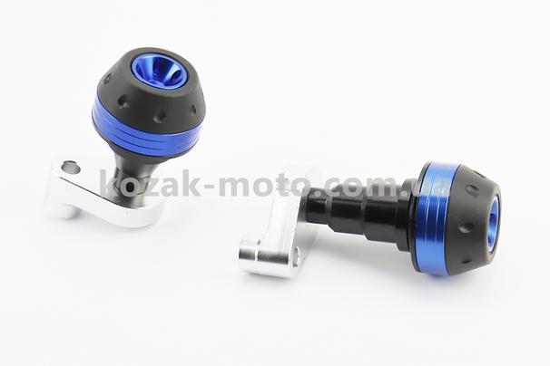 (Китай)  Крашпеди-слайдери (відбійники) універсальні, зі зміщеним кріпленням, ЧОРНИЙ-СИНІЙ к-кт 2шт