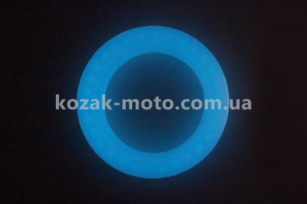 (Китай)  Шина на електросамокат з сотами для амортизації 8,5 х2, флуоресцентні, що світиться синім (Xiaomi Mijia M365 / 187)