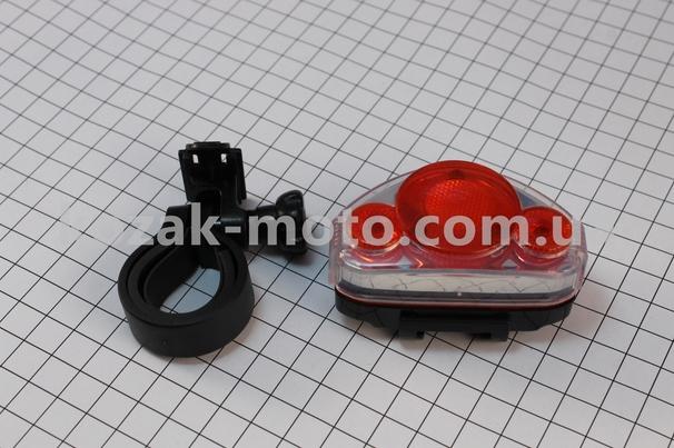 (Китай)  Фонарь задний 5 диодов, JY-312 (без батареек)