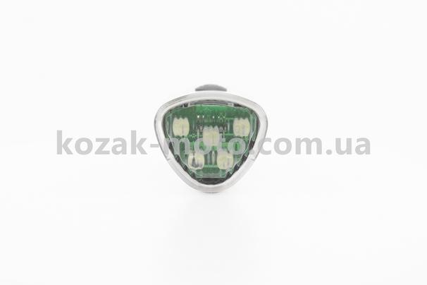(Китай)  Фонарь передний 5 диодов + задний 3 диода к-кт, белый JY-369+353Т (без батареек)