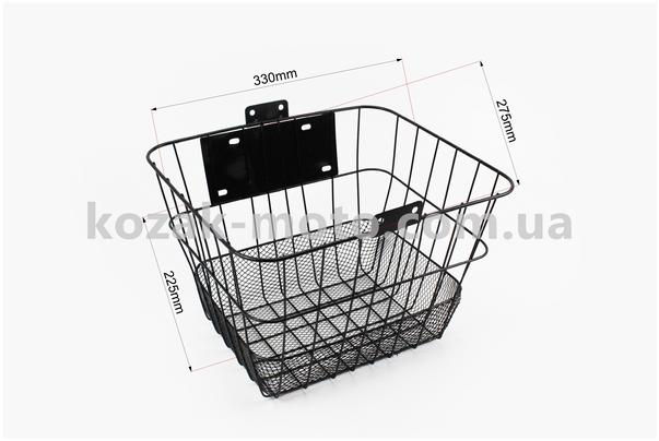 (Китай)  Корзина багажная на руль съемная, черная JL-CK095