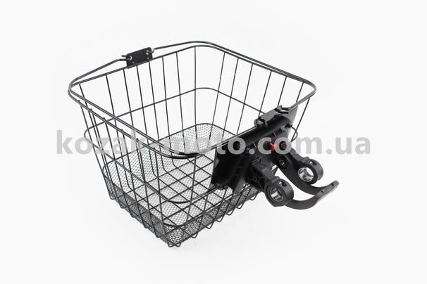 (Китай)  Кошик багажна на кермо знімна, чорна JL-CK095
