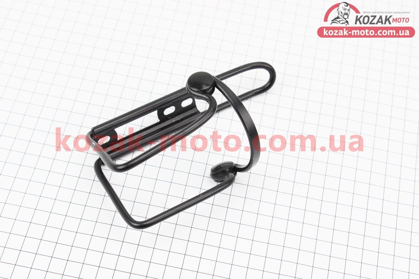 (Китай)  Флягодержатель алюминиевый с пластмассовыми вставками, крепл. на раму, черный