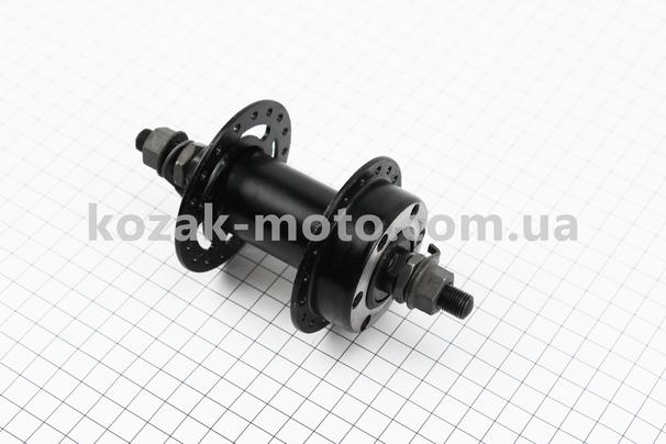 (Китай)  Втулка передняя МТВ 14Gx36H, под диск. тормоз, крепл. гайка, черная SF-A25