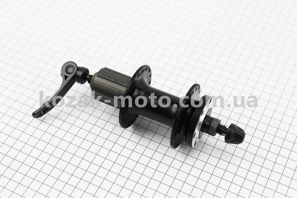 (Китай)  Втулка задняя MTB алюминиевая 14Gx36H под кассету 8-9-10зв, диск. тормоз, крепл. эксцентрик, черная SF-B27R