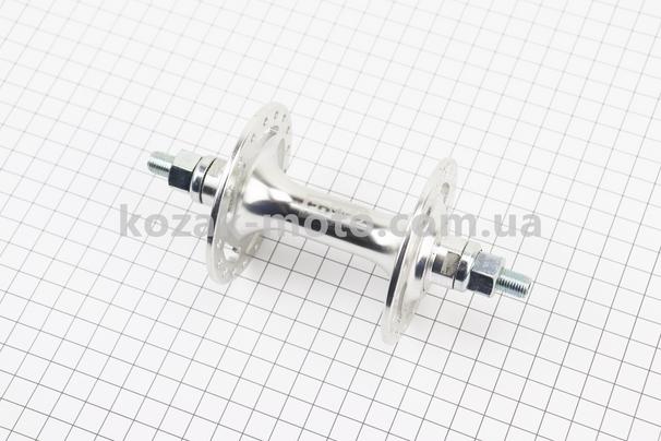 (Китай)  Втулка передняя FIX алюминиевая 14Gx36H, 2 пром-подшипники 6000 2RS, крепл. гайка, SF-B10F