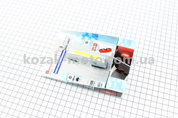 (Китай)  Фонарь передний 16 диодов 100 lumen, Li-ion 3.7V 500mAh зарядка от USB, влагозащитный, RPL-2263