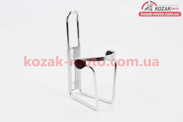 (Китай)  Флягодержатель алюминиевый с пластмассовыми вставками, крепл. на раму