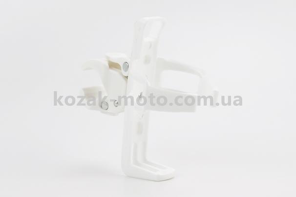 (BETO)  Флягодержатель пластиковый с креплением универсальным на эксцентрике, белый BC-105C