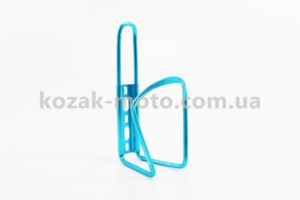 (Китай)  Флягодержатель алюминиевый, крепл. на раму, синий