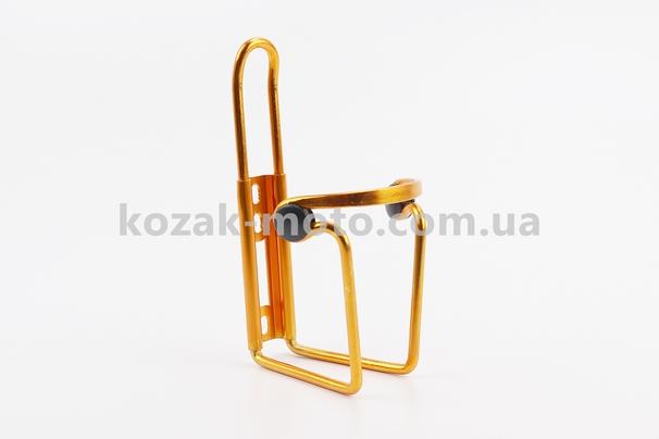 (Китай)  Флягодержатель алюминиевый с пластмассовыми вставками, крепл. на раму, желтый