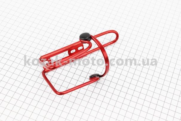 (Китай)  Флягодержатель алюминиевый с пластмассовыми вставками, крепл. на раму, красный