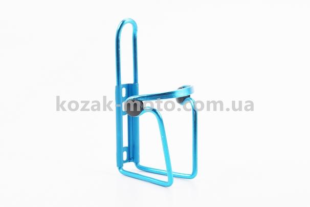 (Китай)  Флягодержатель алюминиевый с пластмассовыми вставками, крепл. на раму, синий
