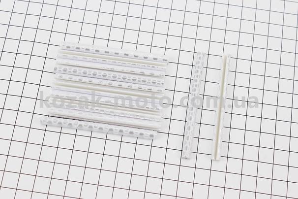 (Китай)  Светоотражатели на спицы 5х75мм, 12шт к-кт, серые JY-1201