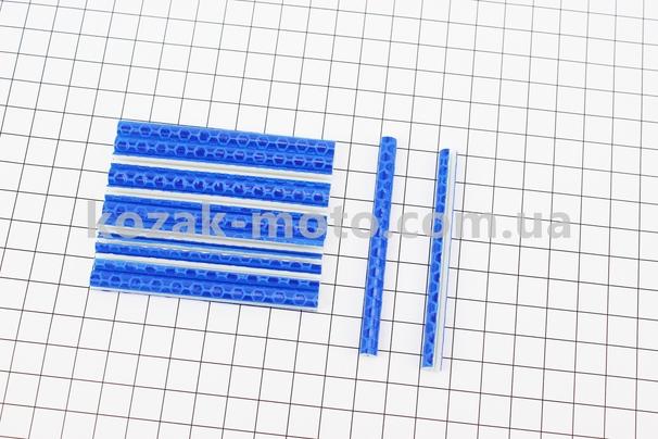 (Китай)  Светоотражатели на спицы 5х75мм, 12шт к-кт, синие JY-1201