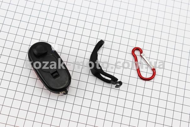 (Китай)  Фонарь универсальный 3 диода, влагозащитный, черно-красный LL-5658 (без батареек)