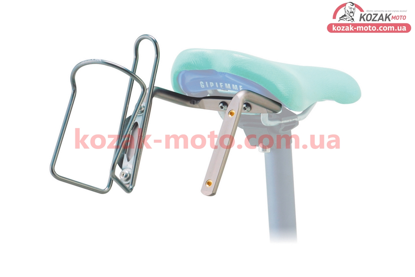 (Китай)  Кронштейн для 2-х флягодержателей, алюминиевый, крепл. на рамку седла, SBH-300