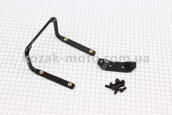 (Китай)  Кронштейн для 2-х флягодержателей, алюминиевый, крепл. на рамку седла, черный SBH-300