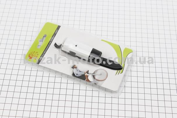 (Китай)  Фонарь передний 1 диод, Li-ion 3.7V 100mAh зарядка от USB, влагозащитный, белый JY-6100