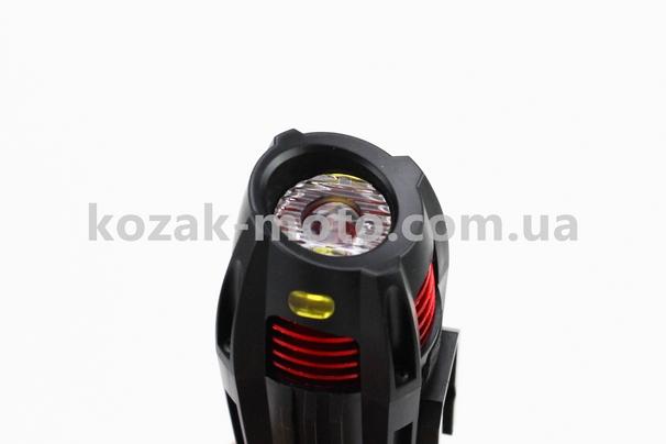 (Китай)  Фонарь передний 1 диод 300 lumen, Li-ion 3.7V 2000mAh зарядка от USB, влагозащитный, черный