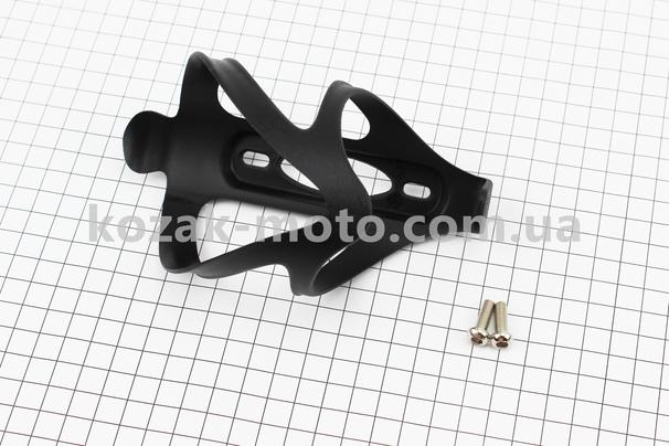 (Taiwan)  Флягодержатель пластиковый с креплением на раму, черный LY-3648