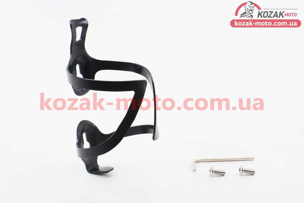 (Китай)  Флягодержатель алюминиевый, крепл. на раму, черный BC107