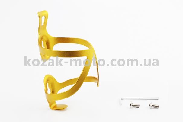 (Китай)  Флягодержатель алюминиевый, крепл. на раму, желтый BC107